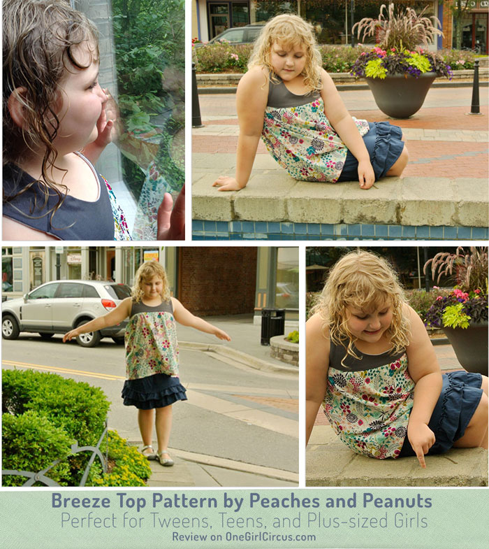 Breeze Top is lovely for plus-sized little girls